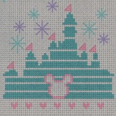 How to cross stitch . Magical Disney Castle Cross Stitch - Step 4