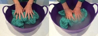 How to knit . How To Block Knitted Garments - Step 3