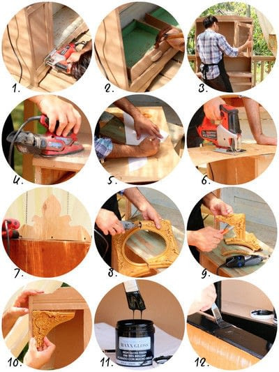 How to make furniture. Curiosity Cabinet Diy - Step 3