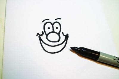 How to draw & paint a piece of character art. Beano Style Crafterella - Step 8