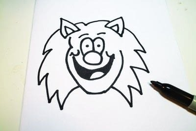 How to draw & paint a piece of character art. Beano Style Crafterella - Step 13