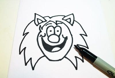 How to draw & paint a piece of character art. Beano Style Crafterella - Step 14