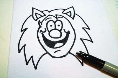 How to draw & paint a piece of character art. Beano Style Crafterella - Step 15