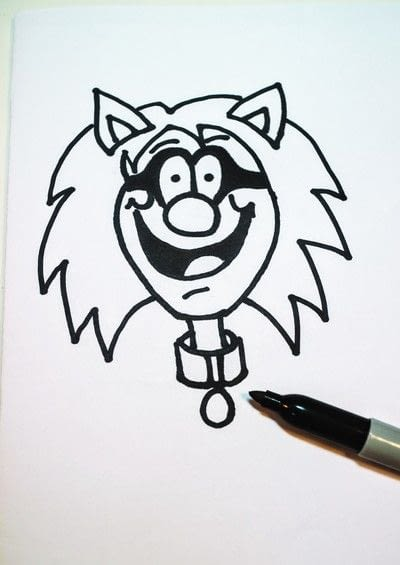 How to draw & paint a piece of character art. Beano Style Crafterella - Step 18