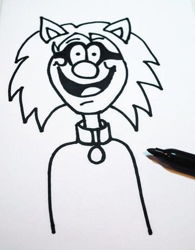 How to draw & paint a piece of character art. Beano Style Crafterella - Step 19