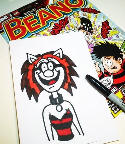 How to draw & paint a piece of character art. Beano Style Crafterella - Step 25