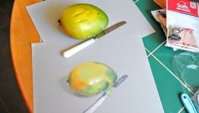 How to draw a pastel drawing. Avocado Drawing - Step 9
