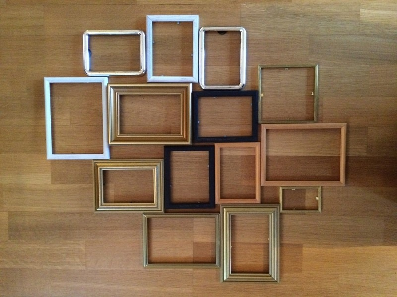 diy multi photo frame from old frames step - Multi Picture Frames