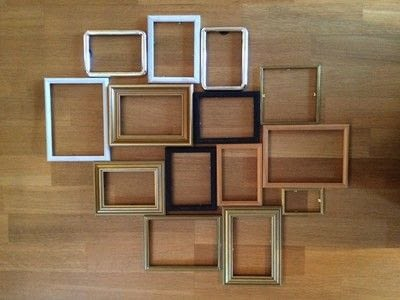 How to make a photo holder. Diy Multi Photo Frame From Old Frames - Step 2