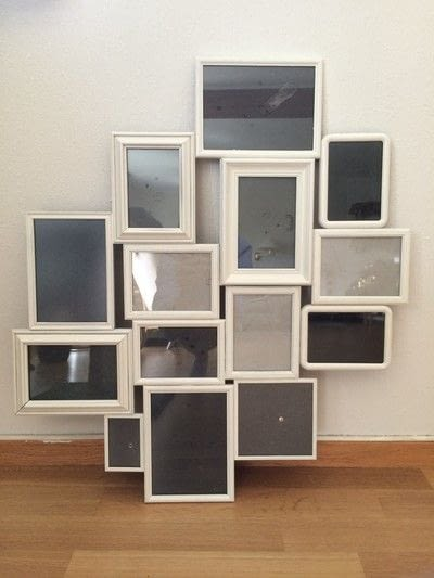 Diy Multi Photo Frame From Old Frames · How To Make A Photo Holder ...