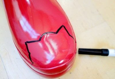 How to make a boot. Cat Wellies - Step 2