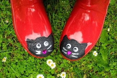 How to make a boot. Cat Wellies - Step 13