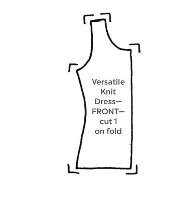 How to sew a maxi dress. Versatile Knit Dress - Step 3