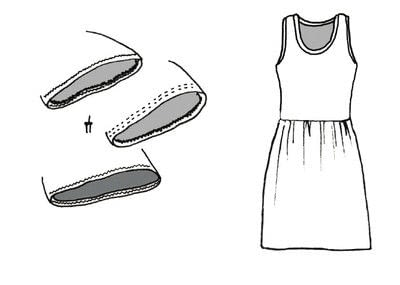 How to sew a maxi dress. Versatile Knit Dress - Step 22