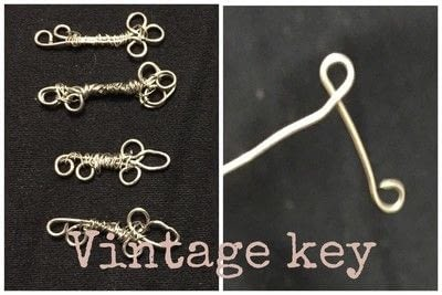 How to make a charms. Mini Wire Keys - Step 4