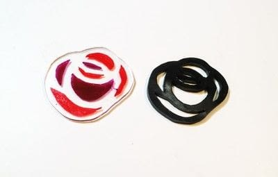 How to make a plastic ring. Stained Glass Rose Ring - Step 10