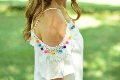 How to make an embellished dress. Diy Pom Pom Dress  - Step 3