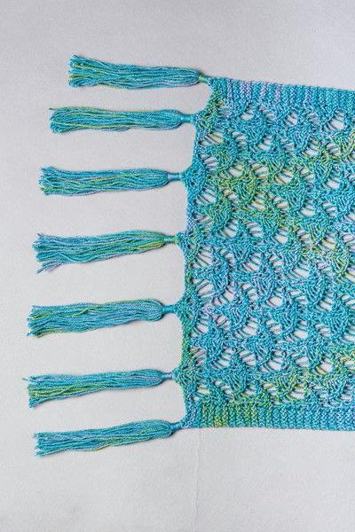 How to make a shawl. Clara Shawl - Step 2