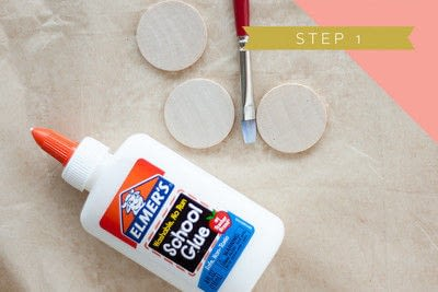 How to make a magnet. Neon Glitter Magnets - Step 1