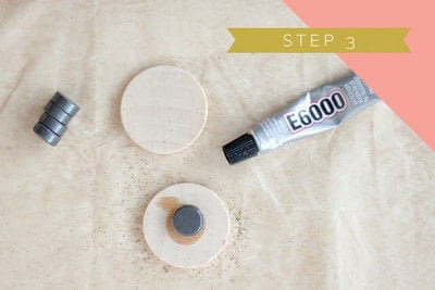 How to make a magnet. Neon Glitter Magnets - Step 3