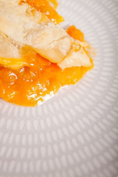 How to bake a sweet pie / sweet tart. Honeyed Apricot Pie - Step 8