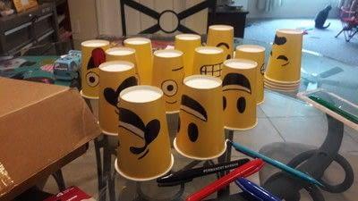How to make a cup / mug. Emoji Face Paper Cups - Step 3