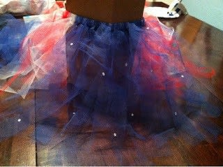 How to make a tutu. Thanksgiving Tutu Skirt - Step 8