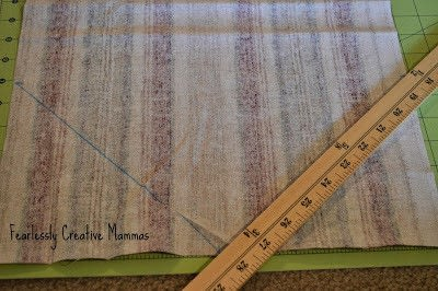 How to make a tablecloth / table runner. Fall Table Runner - Step 1