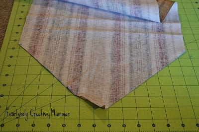 How to make a tablecloth / table runner. Fall Table Runner - Step 2