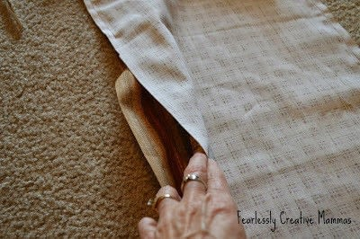 How to make a tablecloth / table runner. Fall Table Runner - Step 4