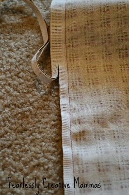 How to make a tablecloth / table runner. Fall Table Runner - Step 5