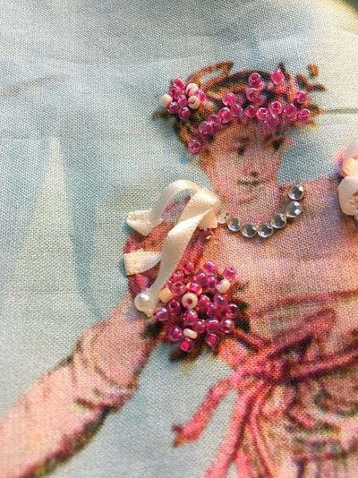 How to bead a beaded dress. The Counterdanse - Step 13