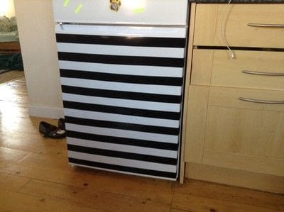 How to make a wall decal. Fridge Revamp - Step 4