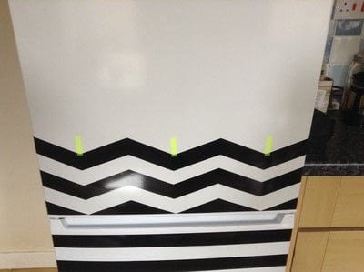 How to make a wall decal. Fridge Revamp - Step 6