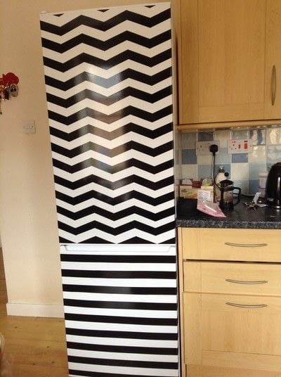 How to make a wall decal. Fridge Revamp - Step 7