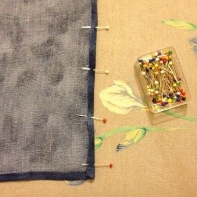 How to make a piece of clothing. DIY Detachable Dungaree Bib - Step 4