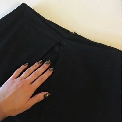 How to sew a hand sewn skirt. Faux Wrap Skirt Pattern Hack - Step 3