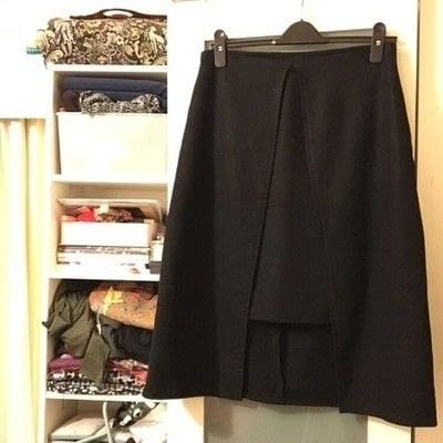 How to sew a hand sewn skirt. Faux Wrap Skirt Pattern Hack - Step 4