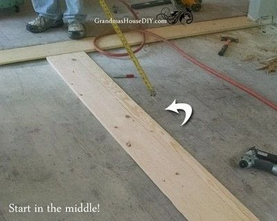 How to make a decoration. How To: Install An Inexpensive Wood Floor That Looks Like A Million Dollars - Step 2