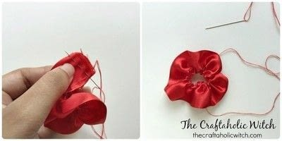 How to make a techniques. Create Ruffled Ribbon Flowers - Step 2