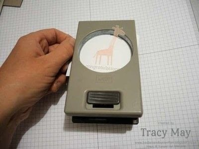 How to make a papercraft. Quick Tip: Punching An Awkward Shape With A Circle Punch - Step 2