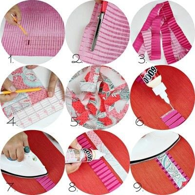 How to make a supplies. No Sew Boho Ribbon - Step 3