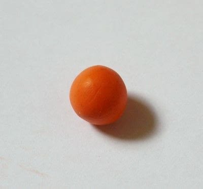 How to sculpt a clay food necklace. Pumpkin Necklace - Step 2
