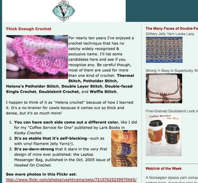 How to make a crochet. Classic Double Thick Potholder Stitch - Step 5