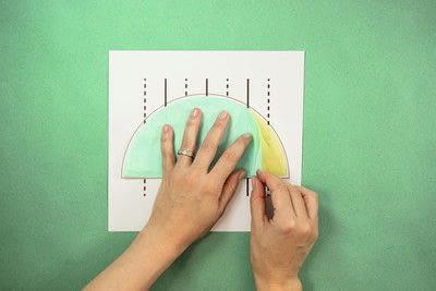 How to make a pom pom decoration. Honeycomb Pom Pom - Step 3
