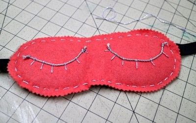 How to make a sleeping mask. Karen Mabon Inspired Eyelash Sleeping Mask - Step 11