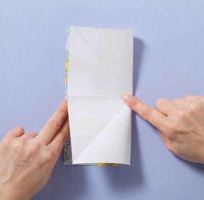 How to fold an origami box. Fusenbako Balloon Box - Step 2