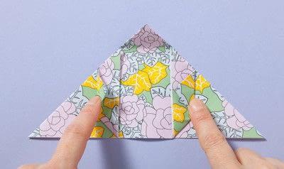 How to fold an origami box. Fusenbako Balloon Box - Step 5