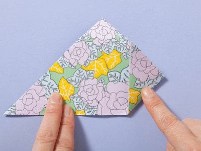 How to fold an origami box. Fusenbako Balloon Box - Step 6