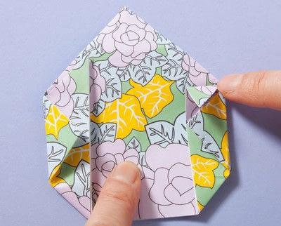 How to fold an origami box. Fusenbako Balloon Box - Step 9